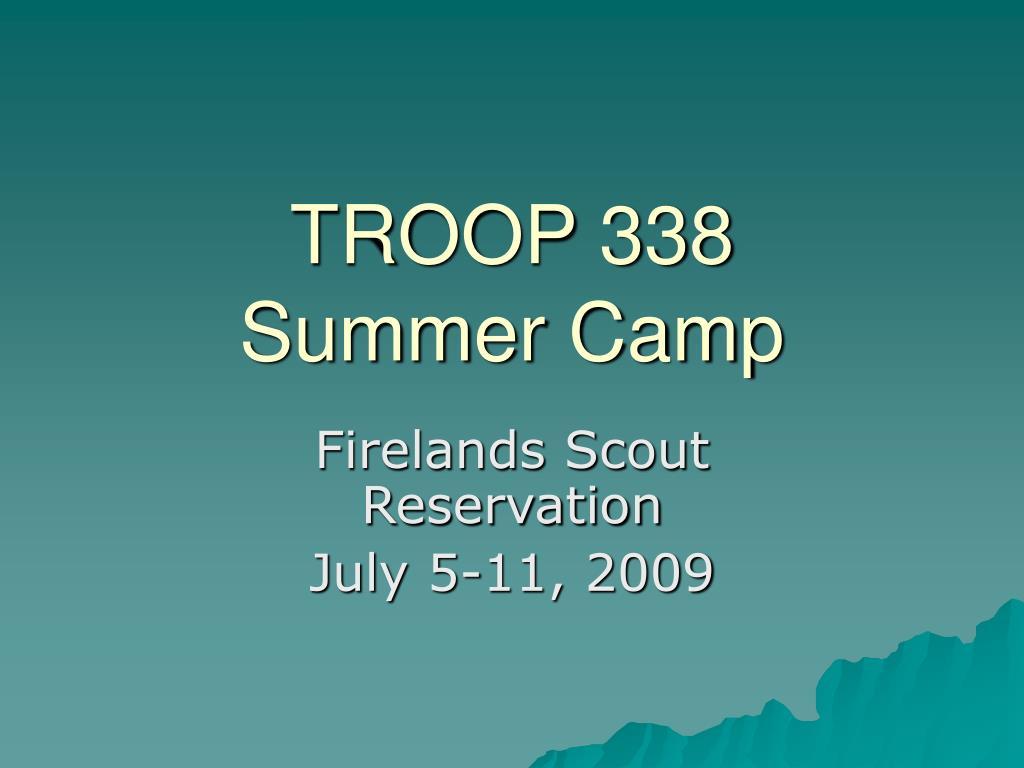 troop 338 summer camp l.