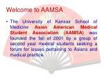 welcome to aamsa