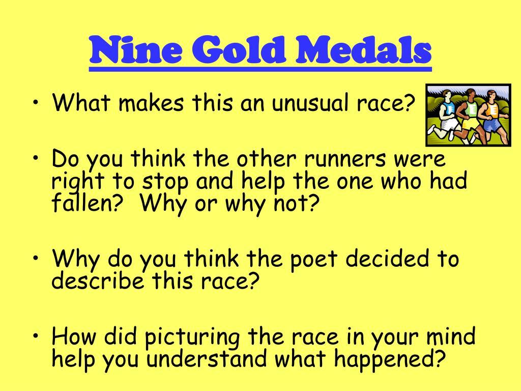 nine gold medals l.