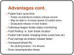 advantages cont