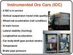 instrumented ore cars ioc