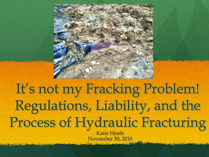 fracking the water problem essay Read this essay on fracking in the karoo fracking is a very water intensive process and uses up these illnesses have become a very serious problem.
