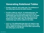 generating relational tables