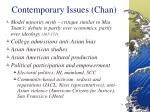 contemporary issues chan