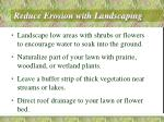 reduce erosion with landscaping