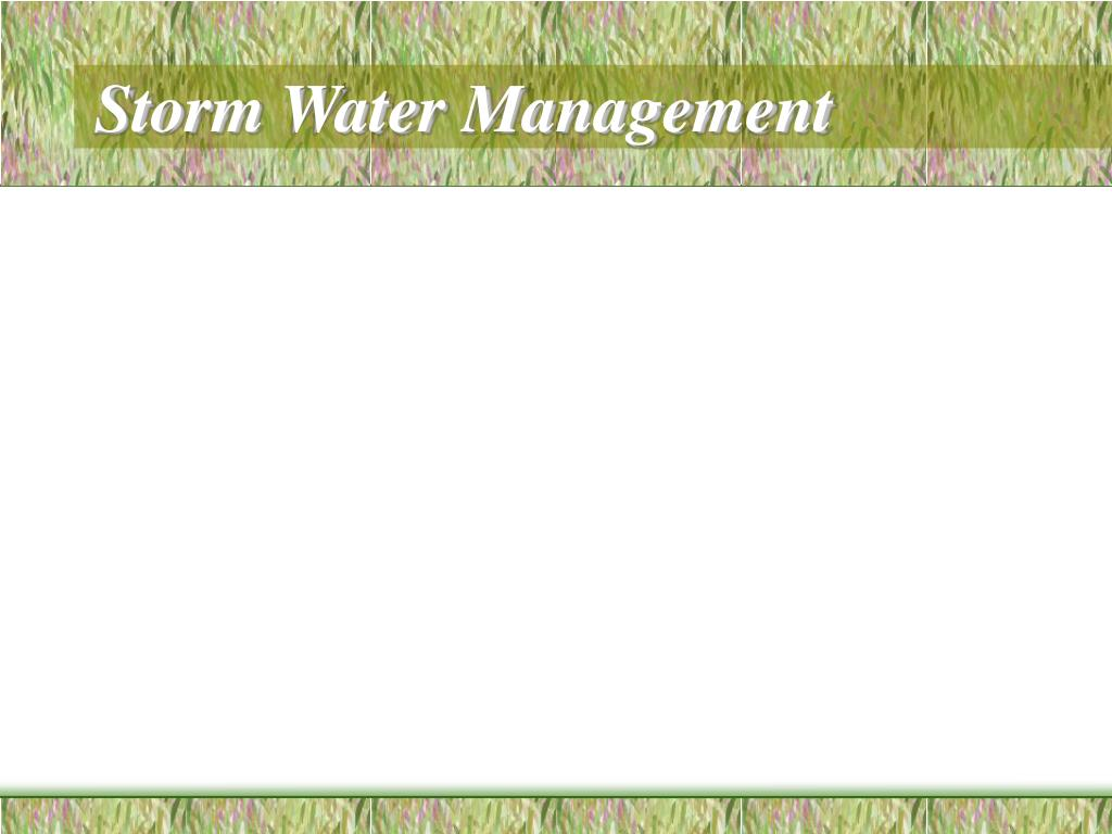 storm water management l.