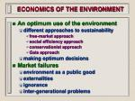 economics of the environment16