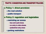 traffic congestion and transport policies56