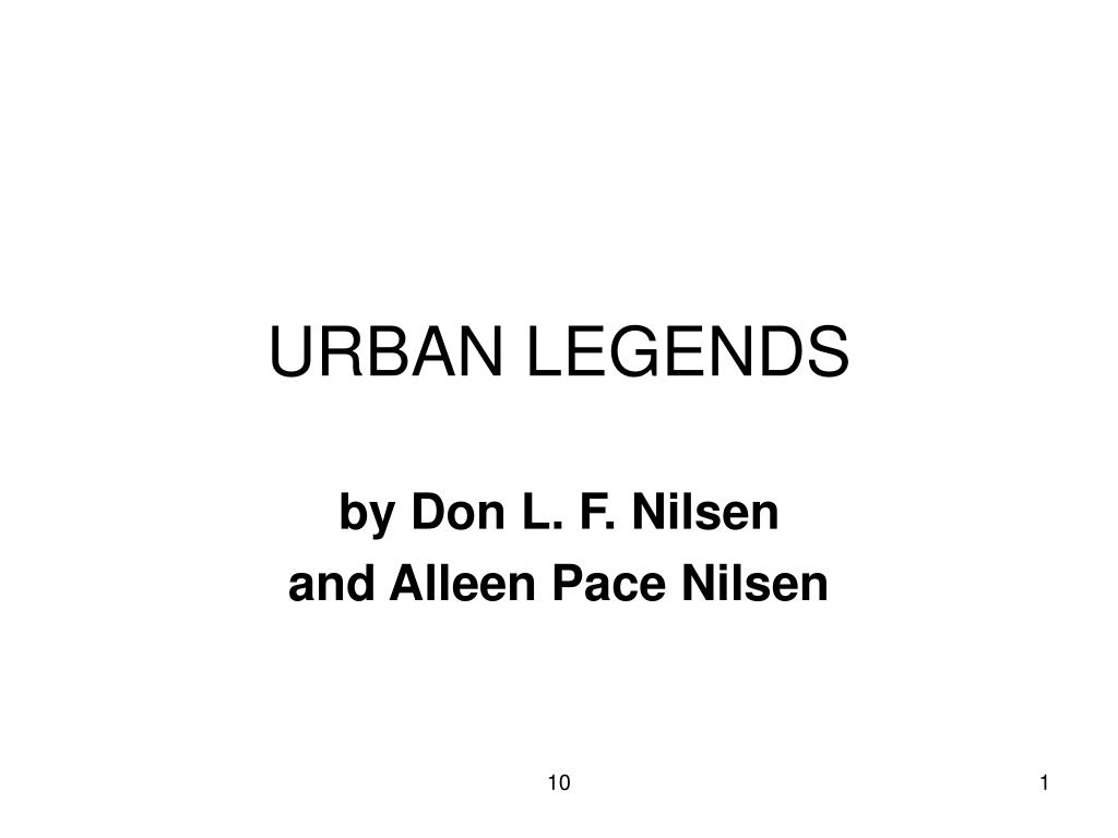 urban legends l.