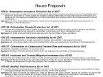 house proposals