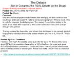 the debate not in congress the real debate on the blogs