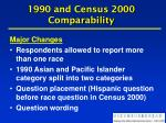 1990 and census 2000 comparability