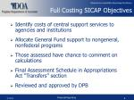 full costing sicap objectives