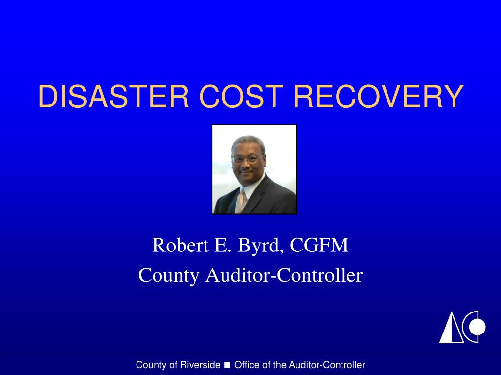 disaster cost recovery l.