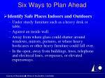 six ways to plan ahead20