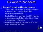 six ways to plan ahead21