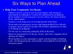 six ways to plan ahead25