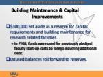 building maintenance capital improvements