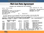 f a cost rate agreement