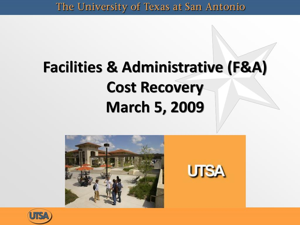 facilities administrative f a cost recovery march 5 2009 l.
