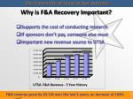 why is f a recovery important