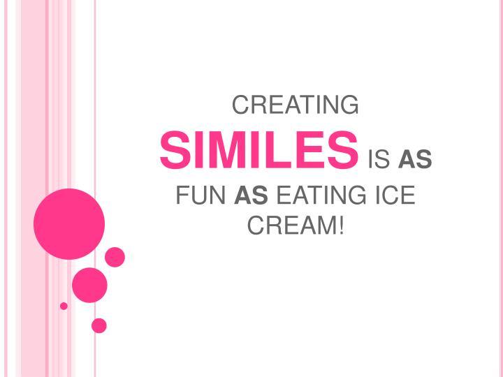 creating similes is as fun as eating ice cream n.