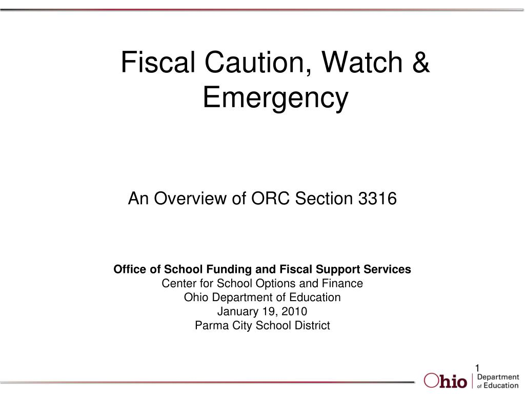 fiscal caution watch emergency l.