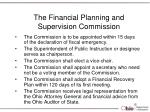 the financial planning and supervision commission15