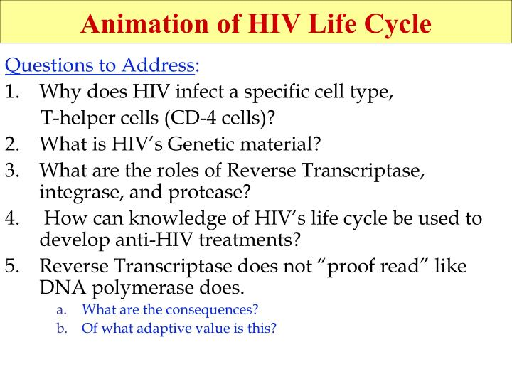Animation of HIV Life Cycle