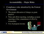 accountability major risks