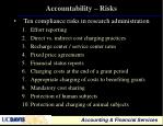 accountability risks
