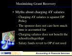 maximizing grant recovery20