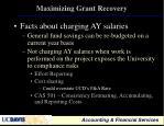 maximizing grant recovery21