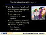 maximizing grant recovery23