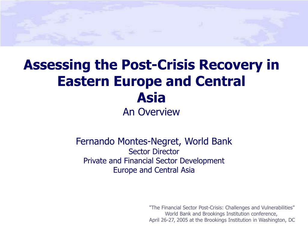 assessing the post crisis recovery in eastern europe and central asia an overview l.