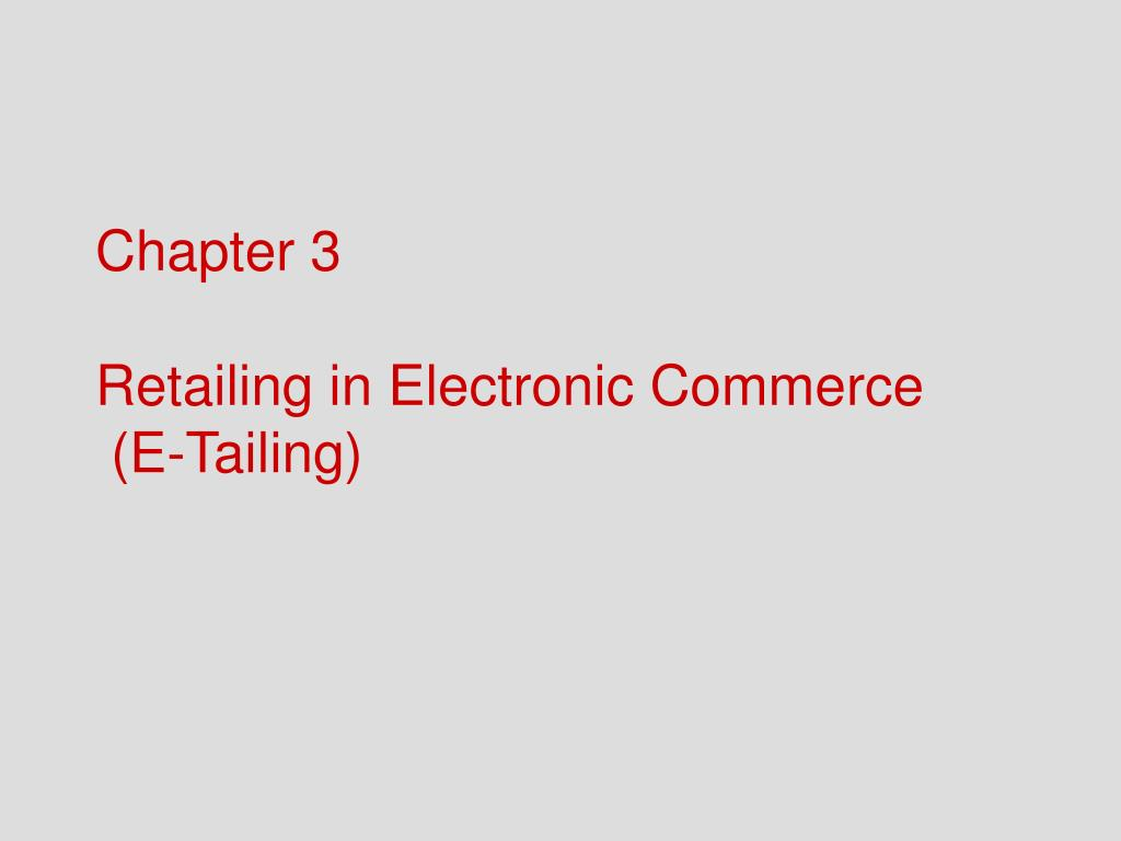difference between retailing and e tailing