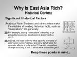 why is east asia rich historical context5