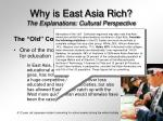 why is east asia rich the explanations cultural perspective27