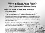 why is east asia rich the explanations rational choice19