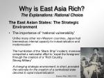 why is east asia rich the explanations rational choice20