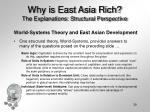 why is east asia rich the explanations structural perspective39
