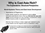why is east asia rich the explanations structural perspective40
