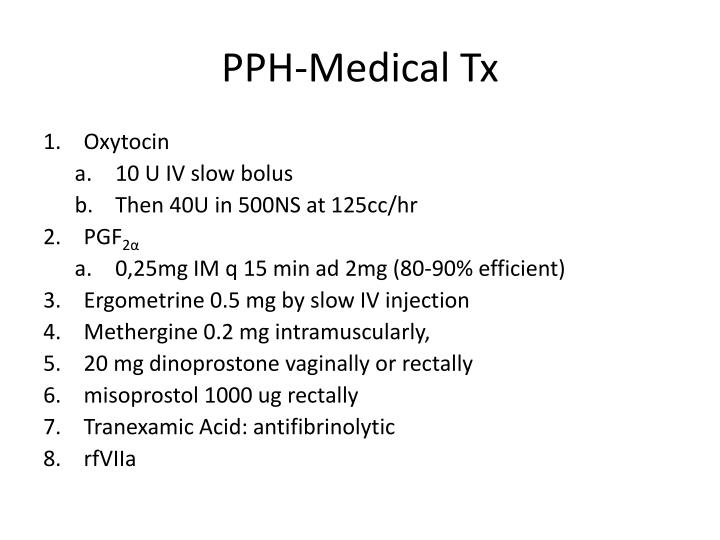 PPH-Medical Tx