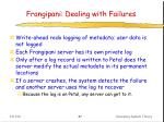 frangipani dealing with failures