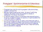 frangipani synchronization coherence