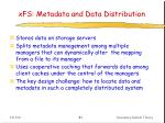 xfs metadata and data distribution