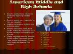 american middle and high schools