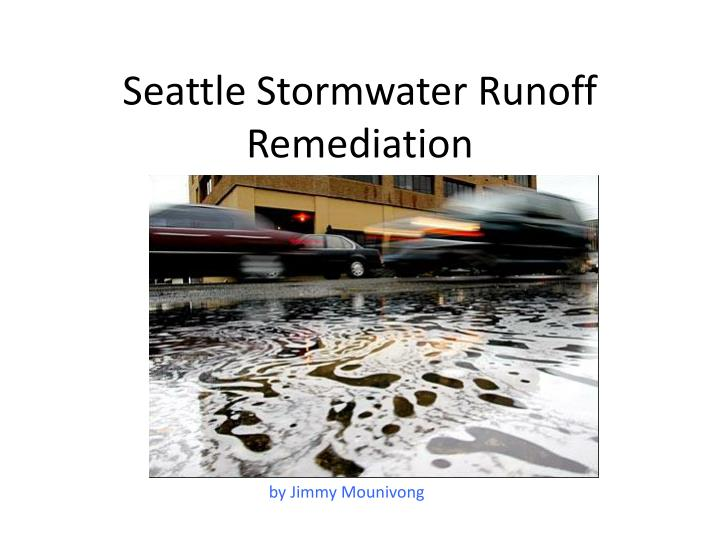 seattle stormwater runoff remediation n.
