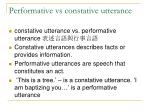 performative vs constative utterance