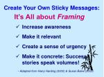 create your own sticky messages